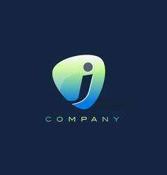 J letter logo oval shape modern design vector