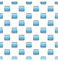 Light blue square button pattern vector