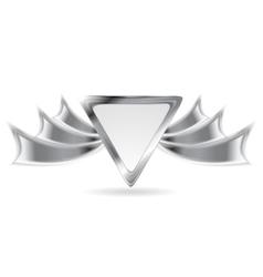 Metallic silver logo element vector image