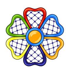 Mexican ornamental flower vector