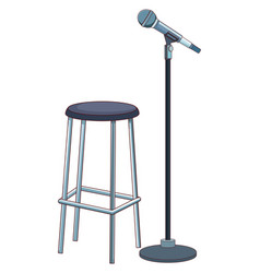 microphone and chair vector image