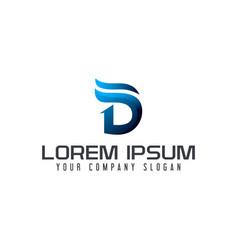 modern letter d logo design concept template vector image