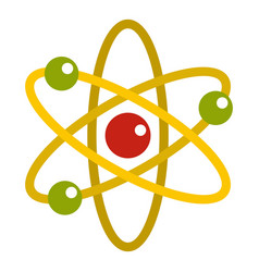 Nucleus and orbiting electrons icon isolated vector