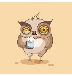 Owl is nervous vector