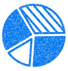 Pie chart icon grunge watermark vector