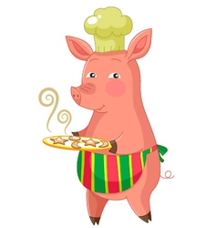Piggie with cookies vector