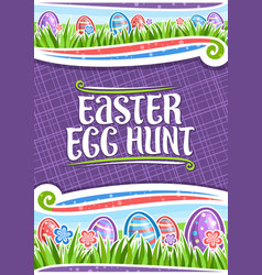 Poster for easter egg hunt vector