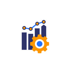 Productivity growth icon business vector