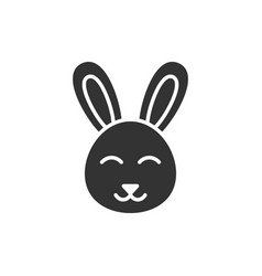 Rabbit icon in flat style bunny on white isolated vector