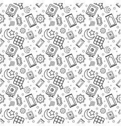 Ramadhan outline pattern vector