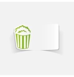 realistic design element popcorn vector image