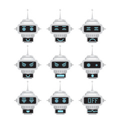 Robot emotion emoji vector