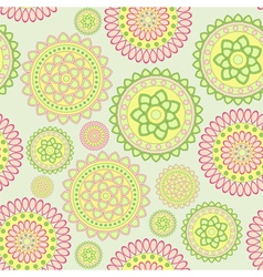 Round geometric flower vector