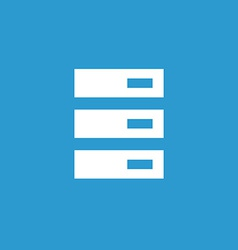 server icon white on the blue background vector image
