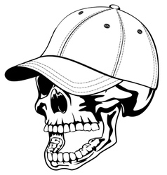 Skull in cap vector