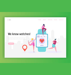smartwatch is a wearable computer landing page vector image
