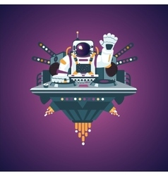 Space party Astronaut in a night club Music vector image vector image