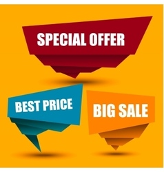 Special Offer Big sale Best Price Marks vector