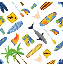 Surfing pattern vector