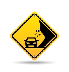 Traffic sign concept icon car caution vector