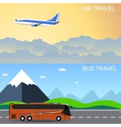 Travel panorama banners vector image