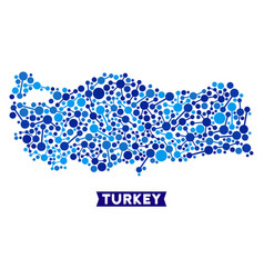 Turkey map connections mosaic vector