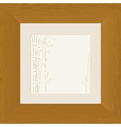 wood frame bamboo vector image