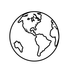 World planet icon vector