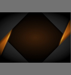 yellow light with wavy mesh background cover vector image