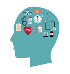 human head healthcare symbols vector image