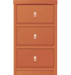 Light-colored simple cupboard vector image
