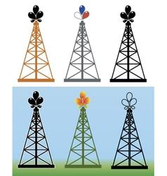 Oil derrick vector