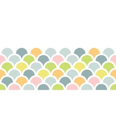 Abstract colorful fishscale horizontal seamless vector image