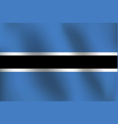 flag of botswana - vector image