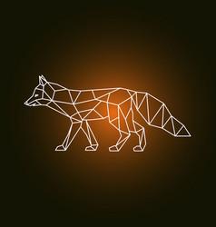 geometric form of a fox vector image