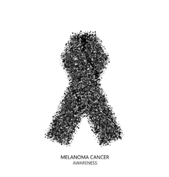 modern melanoma cancer awareness circles vector image vector image