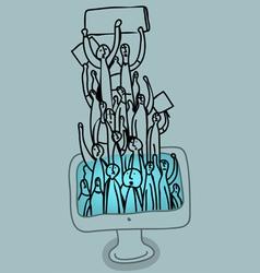 social web strikers vector image vector image