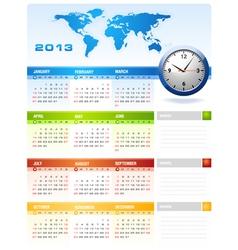 2013 Colourful Calendar vector image