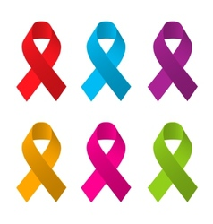 Awareness ribbons vector image