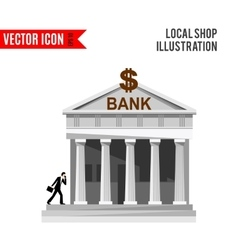 Bank detailed flat design icon vector image