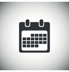 Black month calendar icon 2 vector image