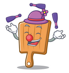 juggling kitchen board character cartoon vector image vector image