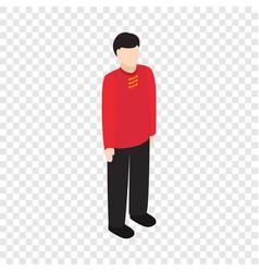 male singaporean isometric icon vector image vector image