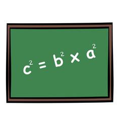 School chalkboard icon cartoon vector