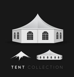 Set of tents vector