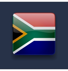 Square icon with flag of South Africa vector image vector image