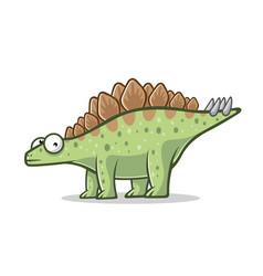 cartoon funny stegosaurus vector image vector image