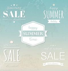 Summer Labels Set vector image vector image