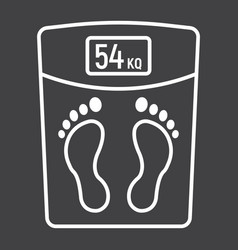 weight scale line icon fitness and sport vector image