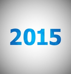 2015 with abstract triangle background vector image